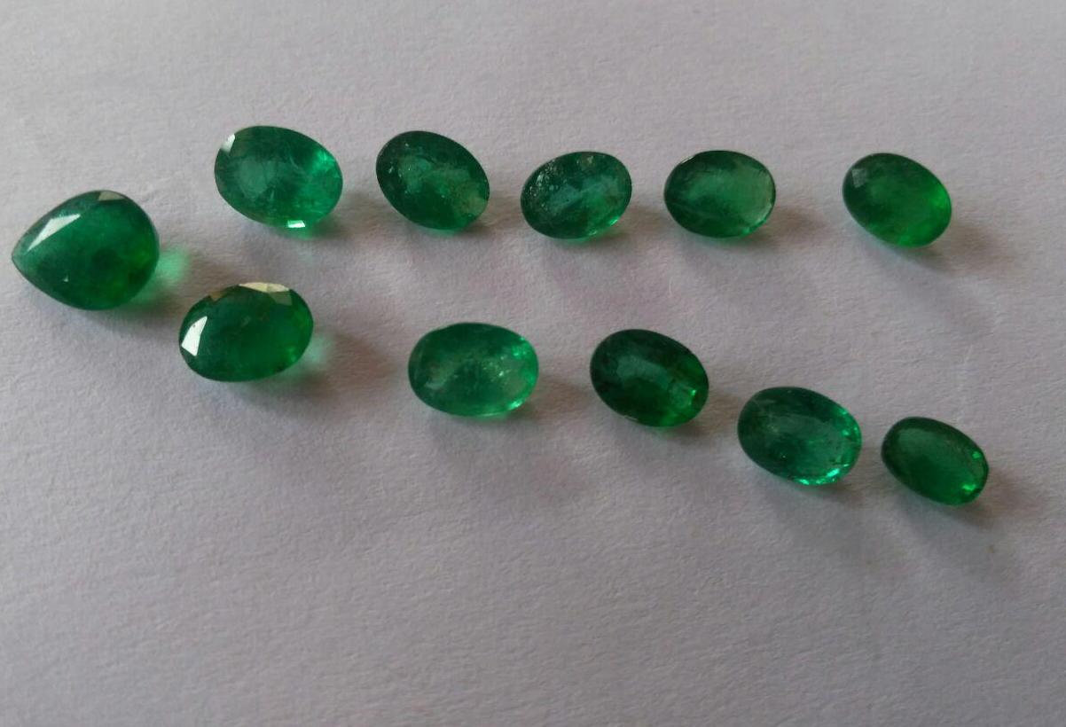 Natural  Zambian Emeralds total weight 12.50 carat