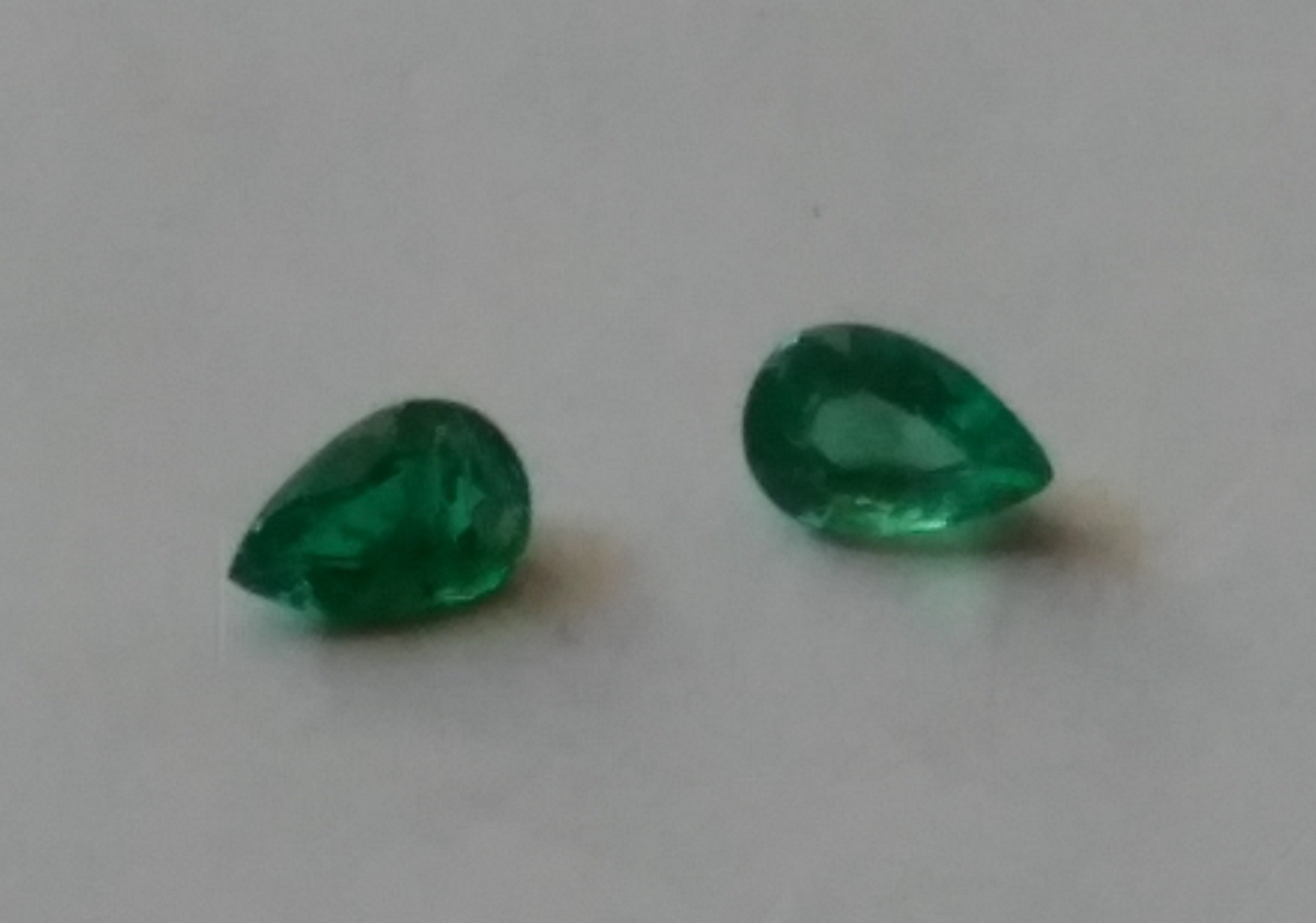 #Natural Emerald Pair  weight - 0.65 Carat