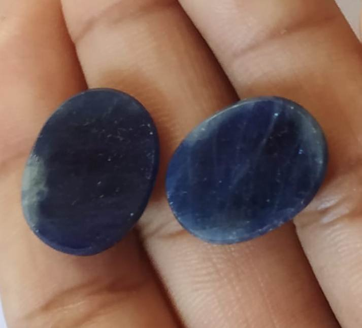 #Natural Sapphire pair for Earrings Loose gemstones total weight - 26 carat