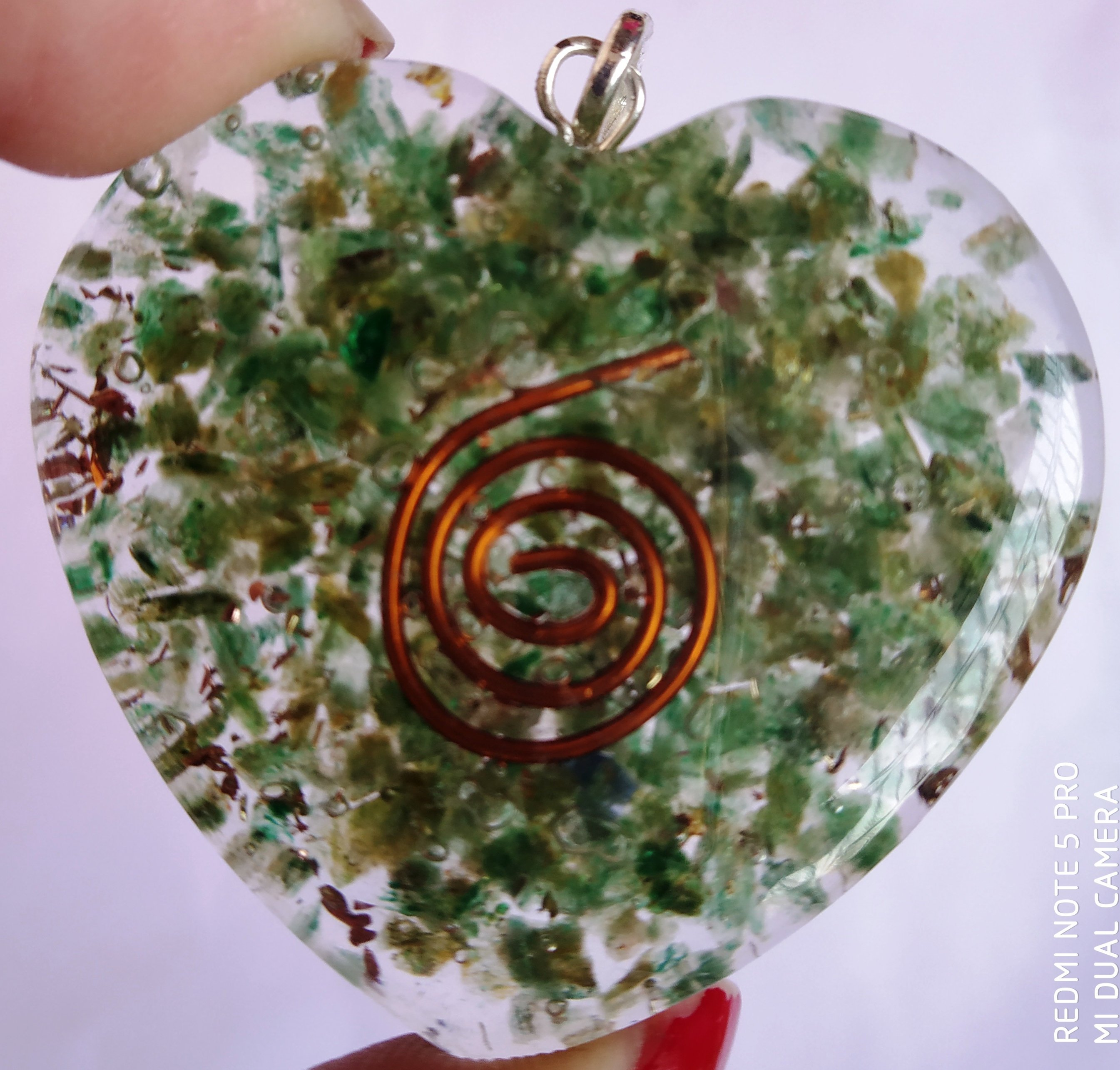 Orgone pendant with heart shape a symbol of love