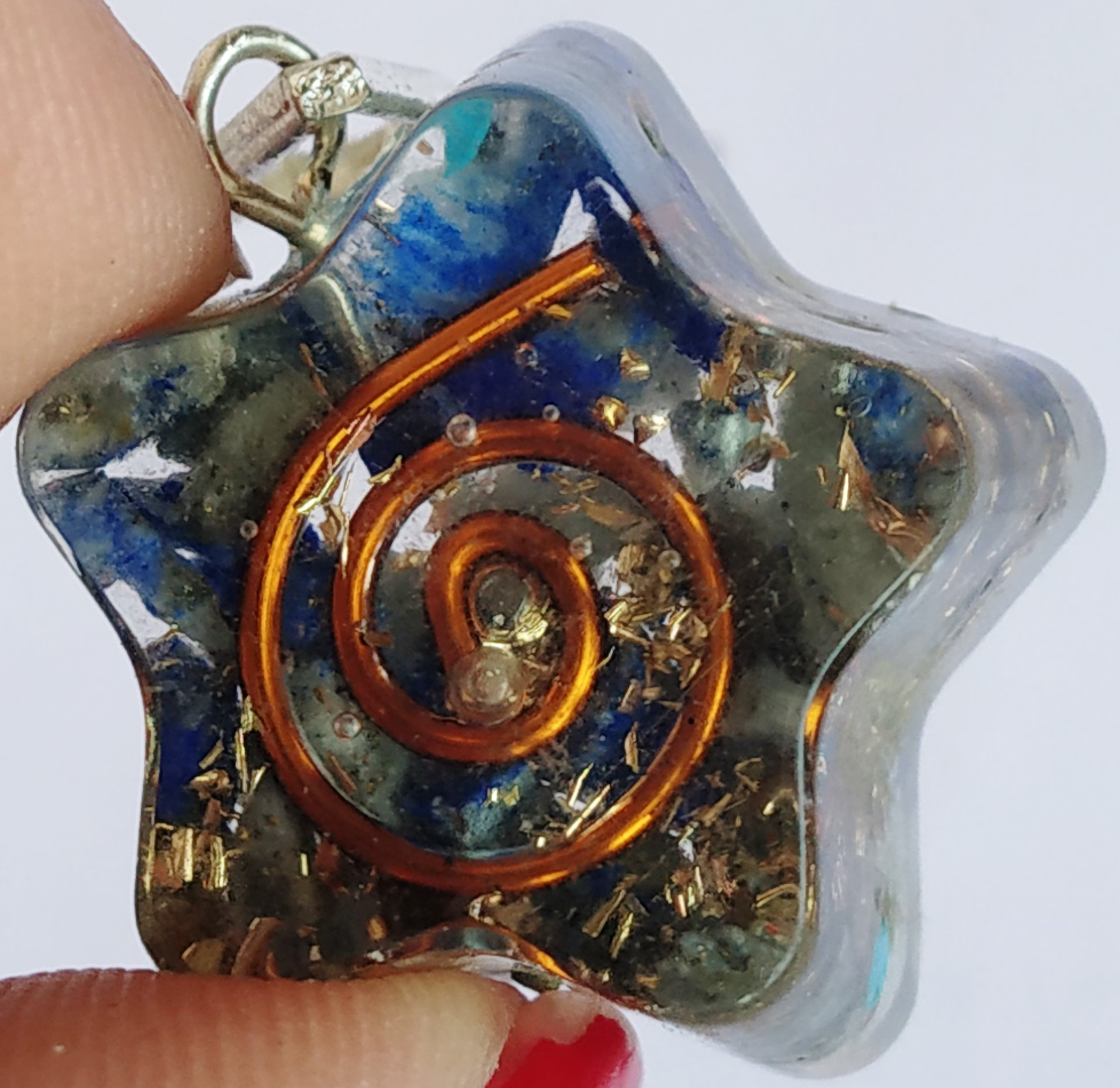 Orgone pendant for Knowledge