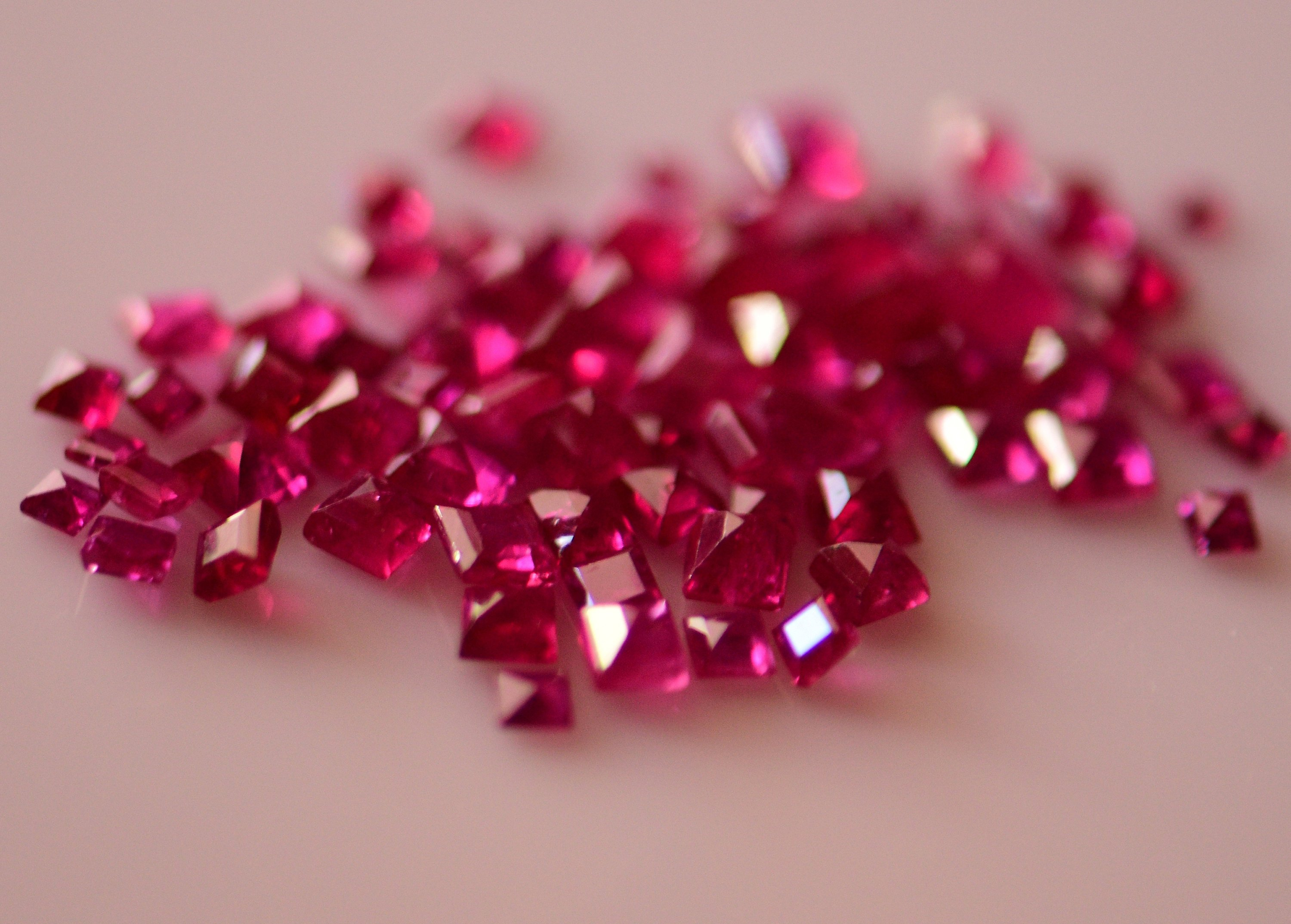 #Natural heated ruby Melee -9.65 carat total  weight