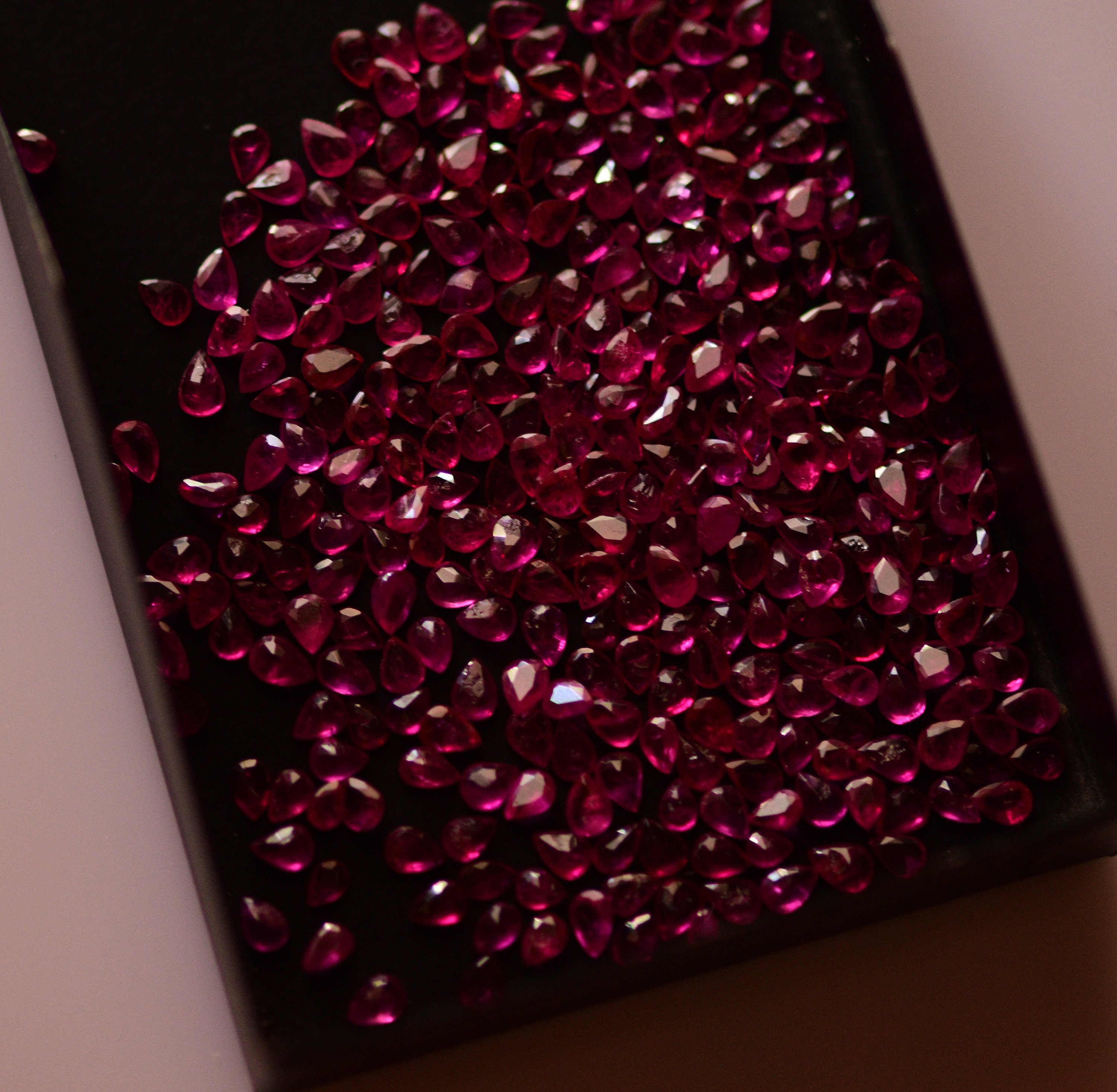#Natural heated ruby Melee -323 pieces- 33.46carat total  weight