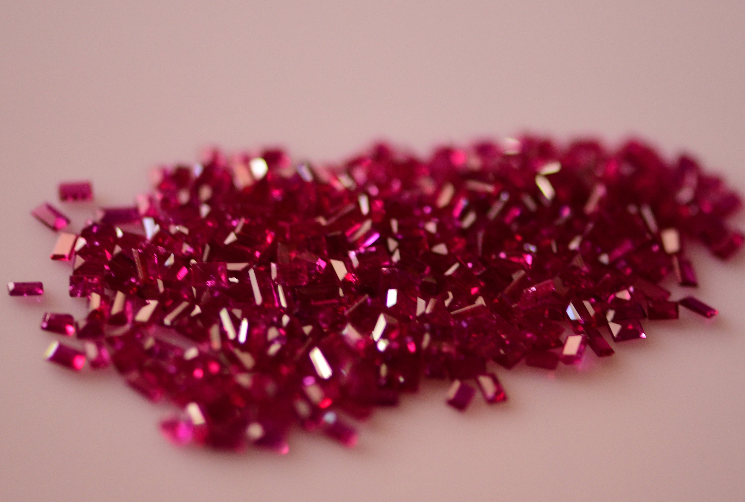 #Natural heated ruby Melee -350pieces-24.05 carat total  weight