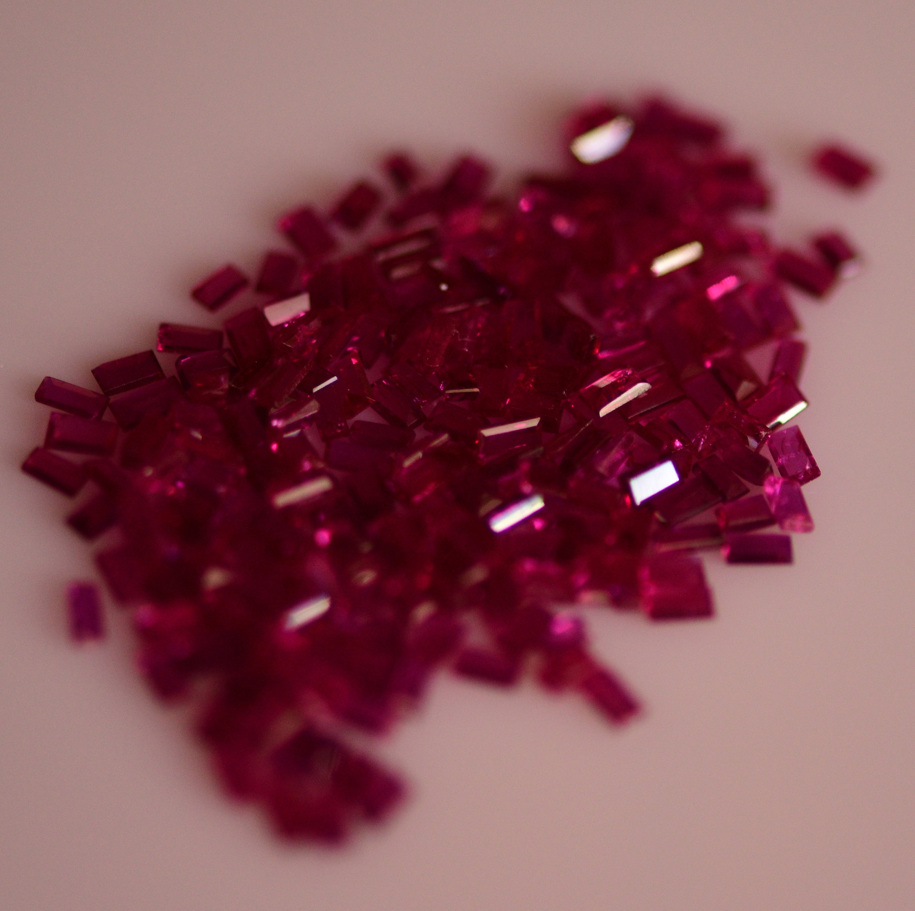 #Natural heated ruby Melee -209 pieces- 8.65carat total  weight