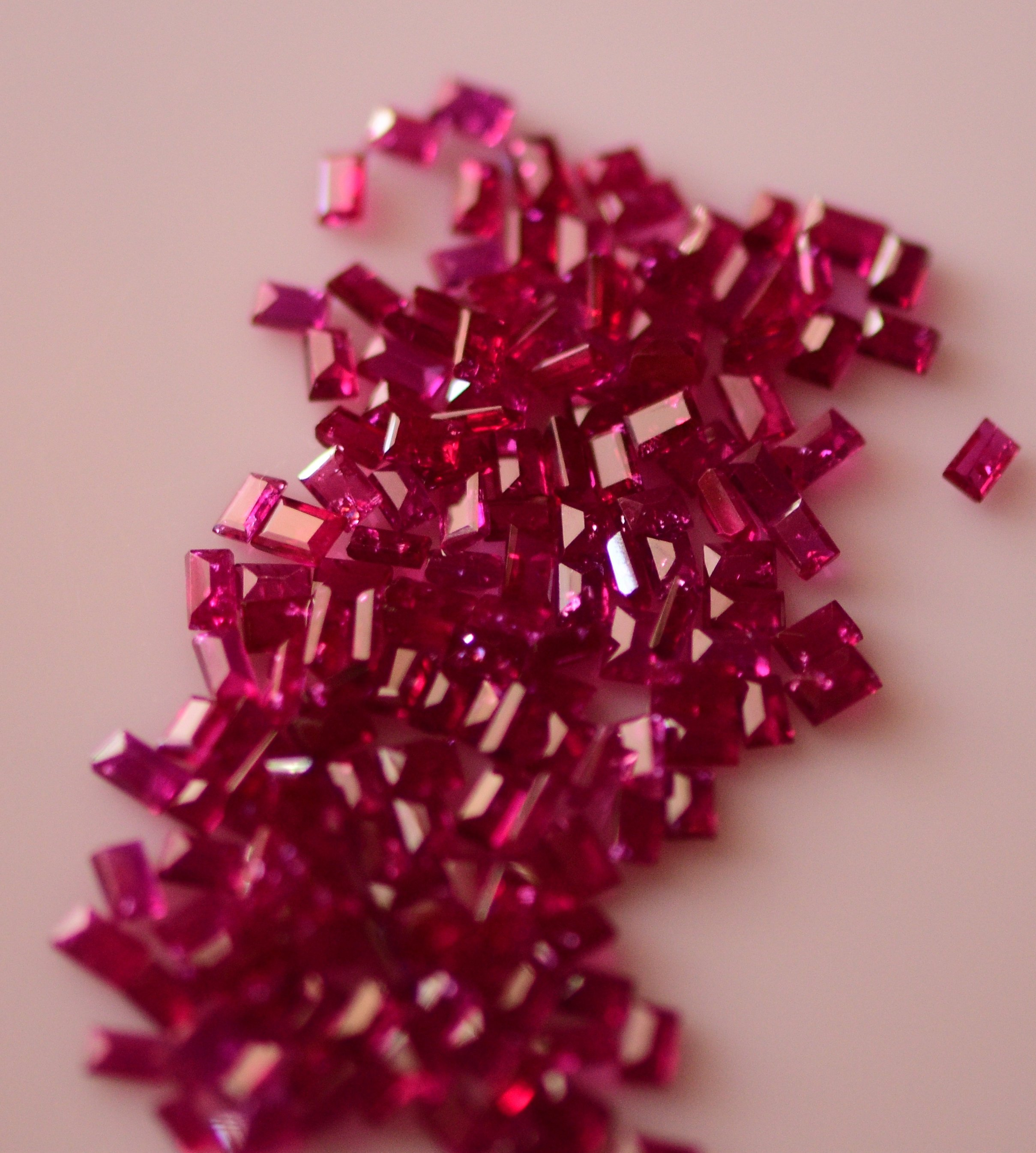 #Natural heated ruby Melee -164 pieces- 20.55carat total  weight