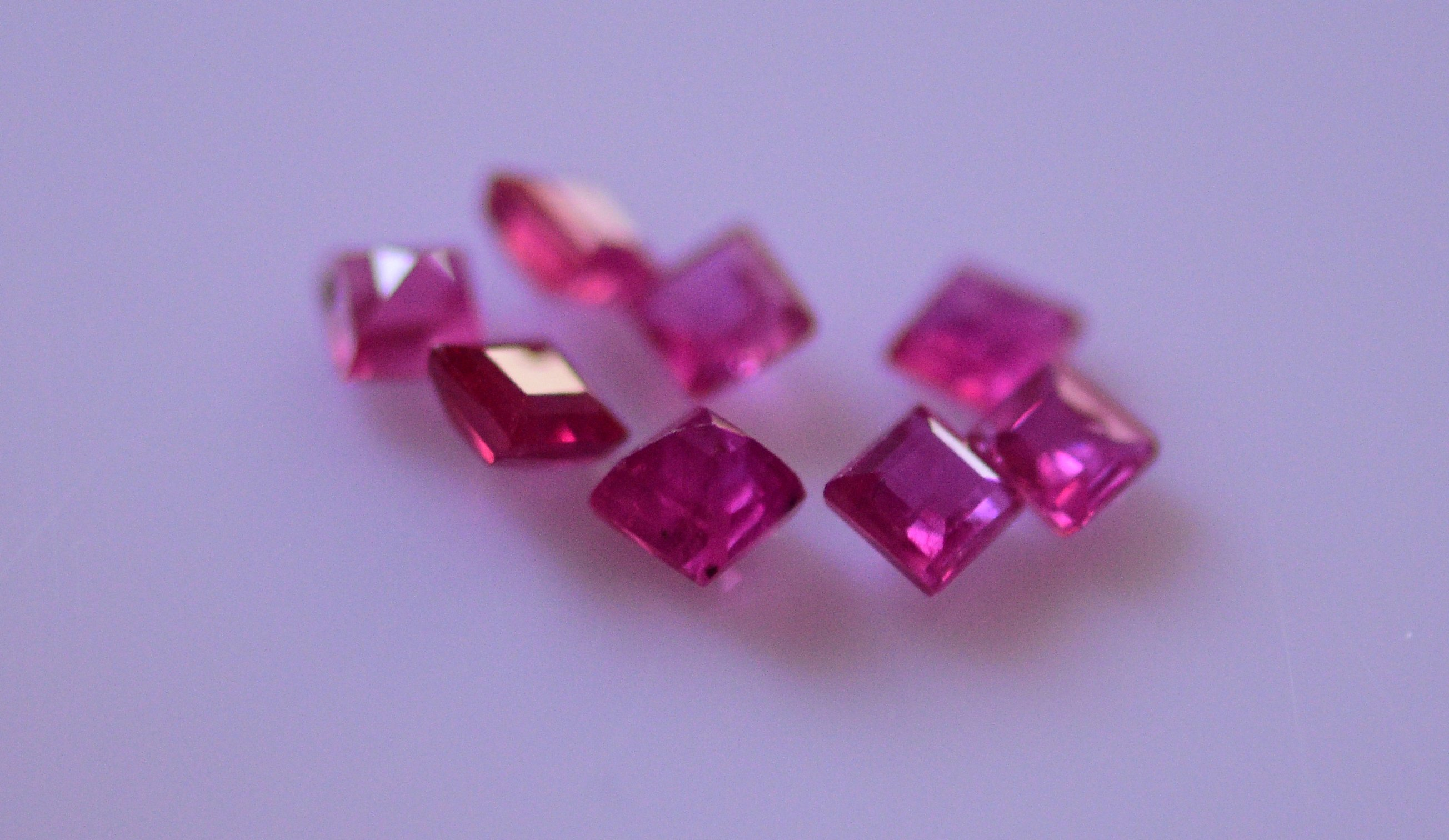 #Natural ruby Melee -8 pieces-1.0 carat total weight