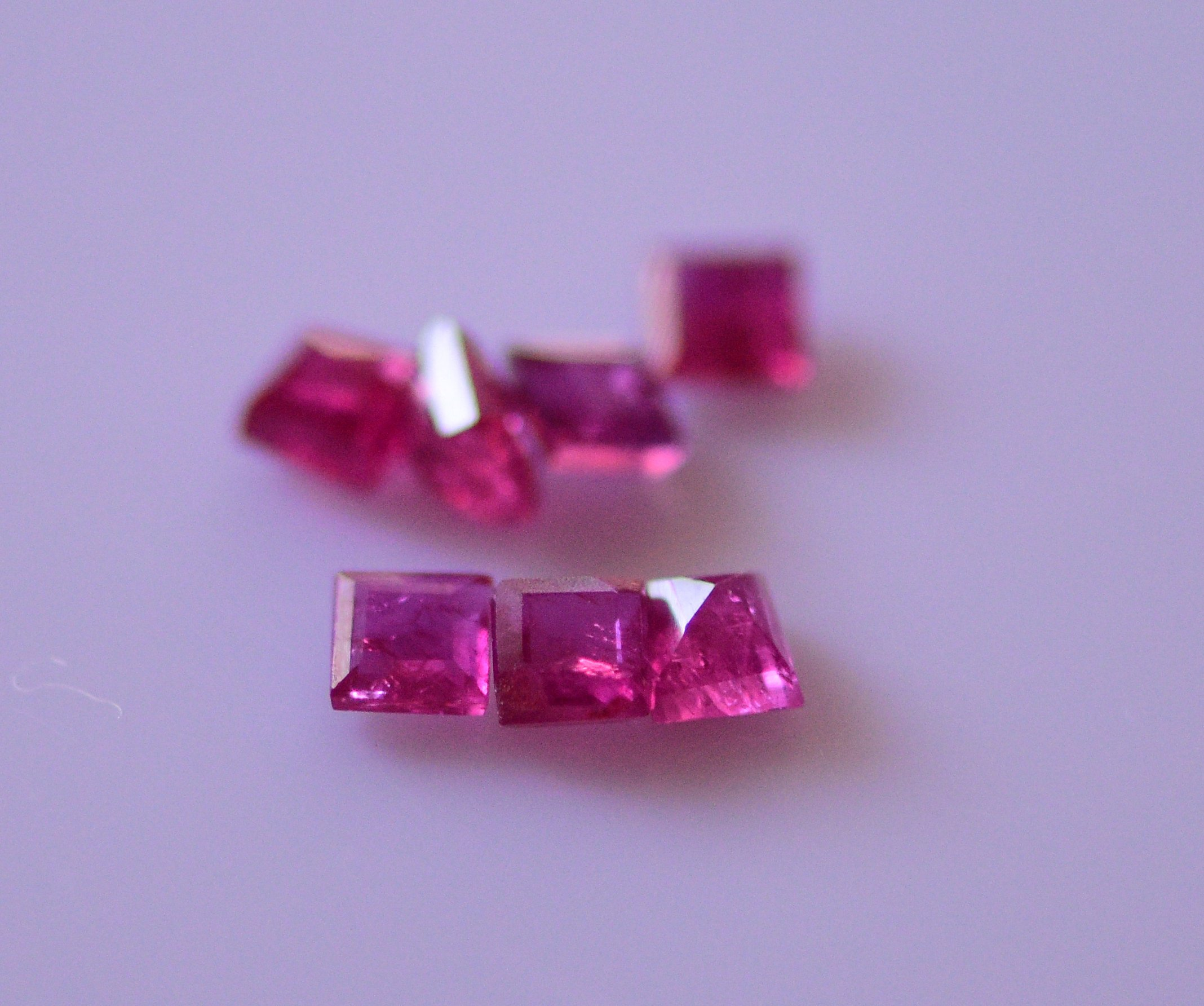 #Natural ruby Melee -7 pieces- 1.85carat total weight