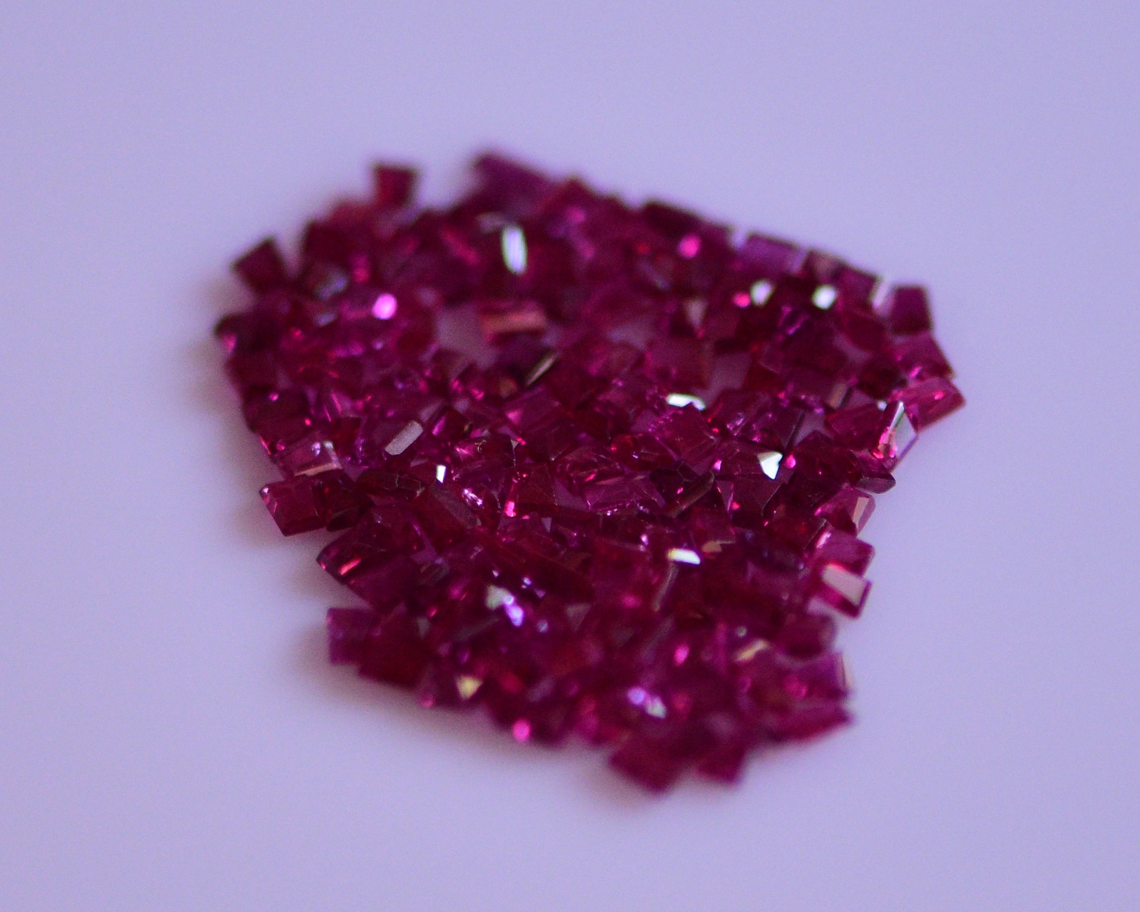 #Natural Ruby melee 156 piece total weight  6.80 carat