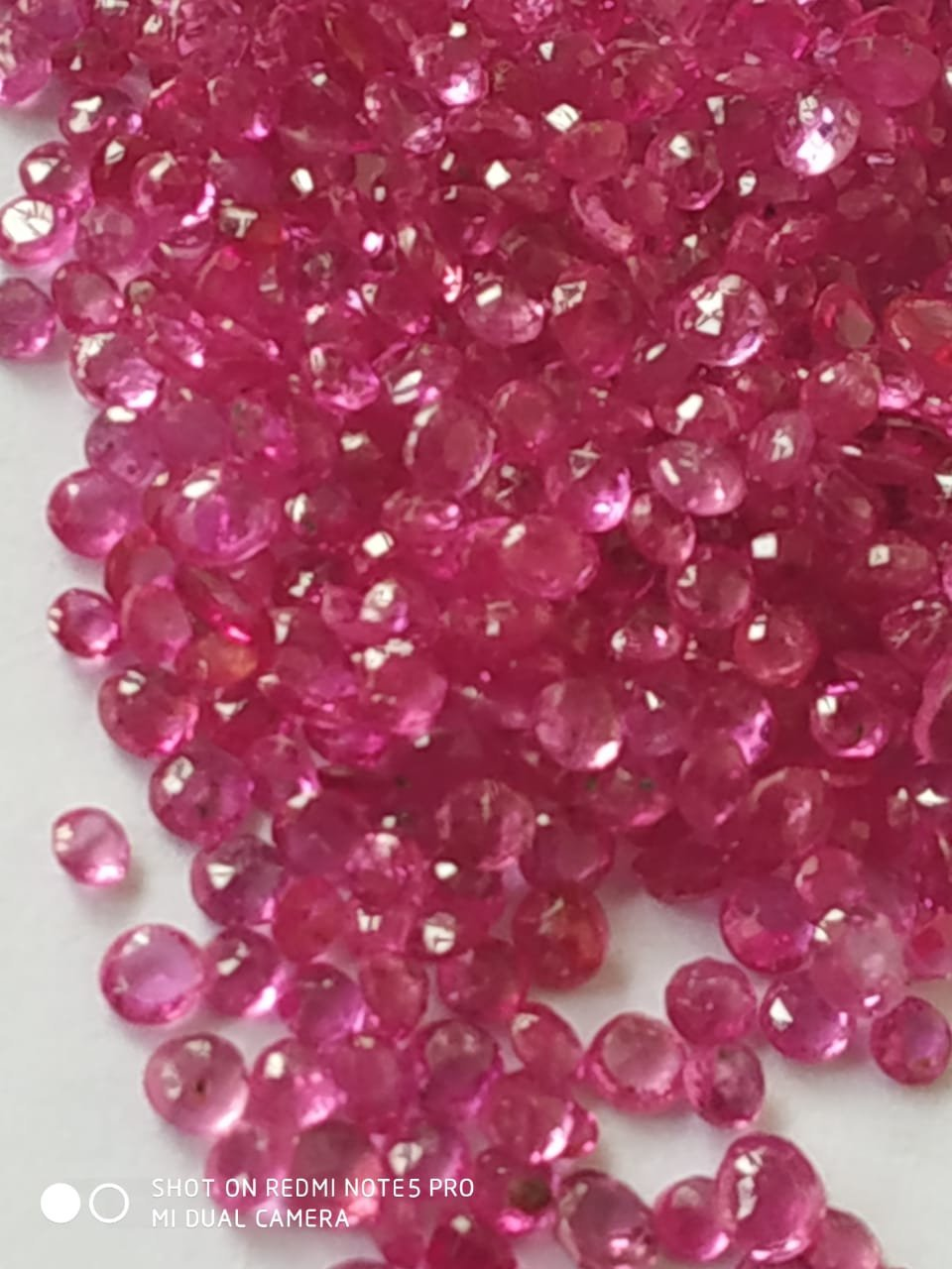 #Natural Burma Ruby Round Cut 1.3 - 2.1 mm Lot Mixed Parcel Gemstone-no heat