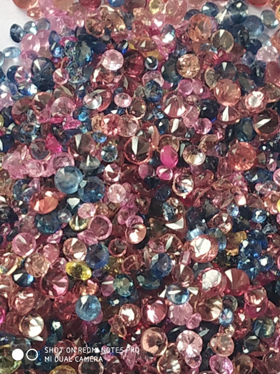 #Natural Sapphire Mix color lot - 0.1 to 1.3 mm Size Round diamond Cut- 30.0carat