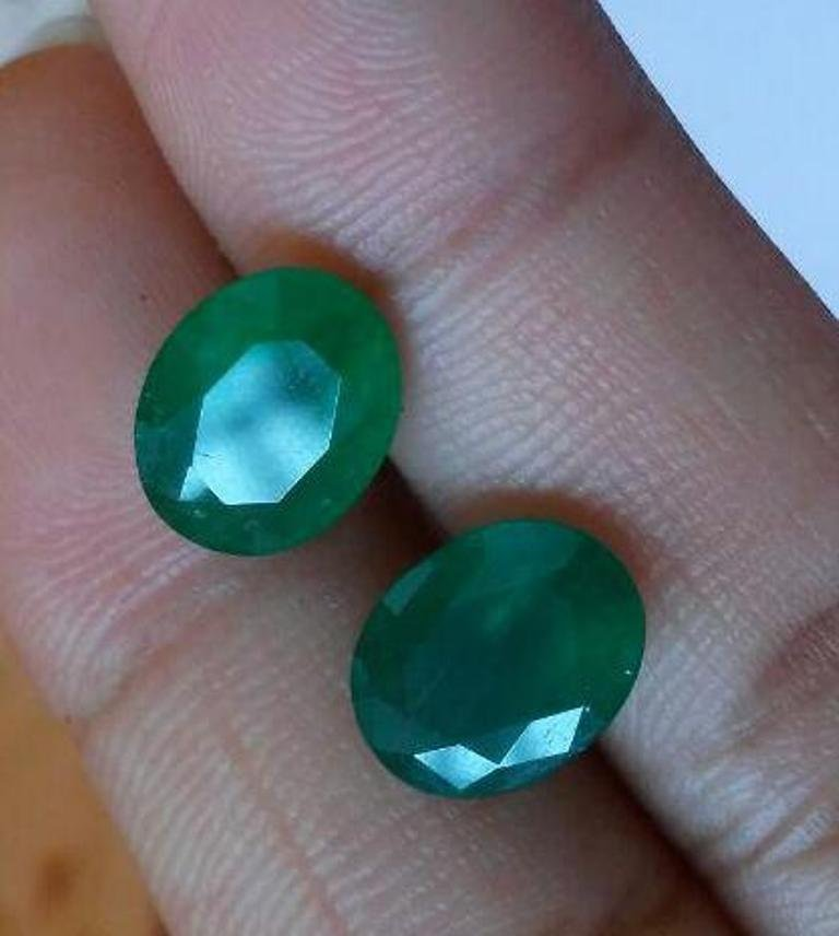 #Natural Emerald pair -4.75 carat