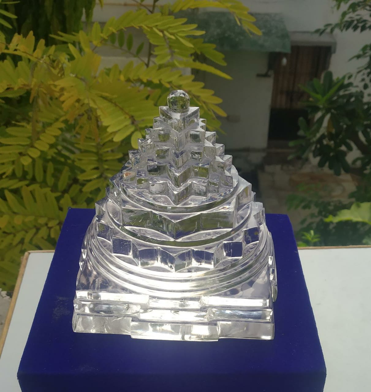 Natural Crystal Shree Yantra - 1556 Gram .