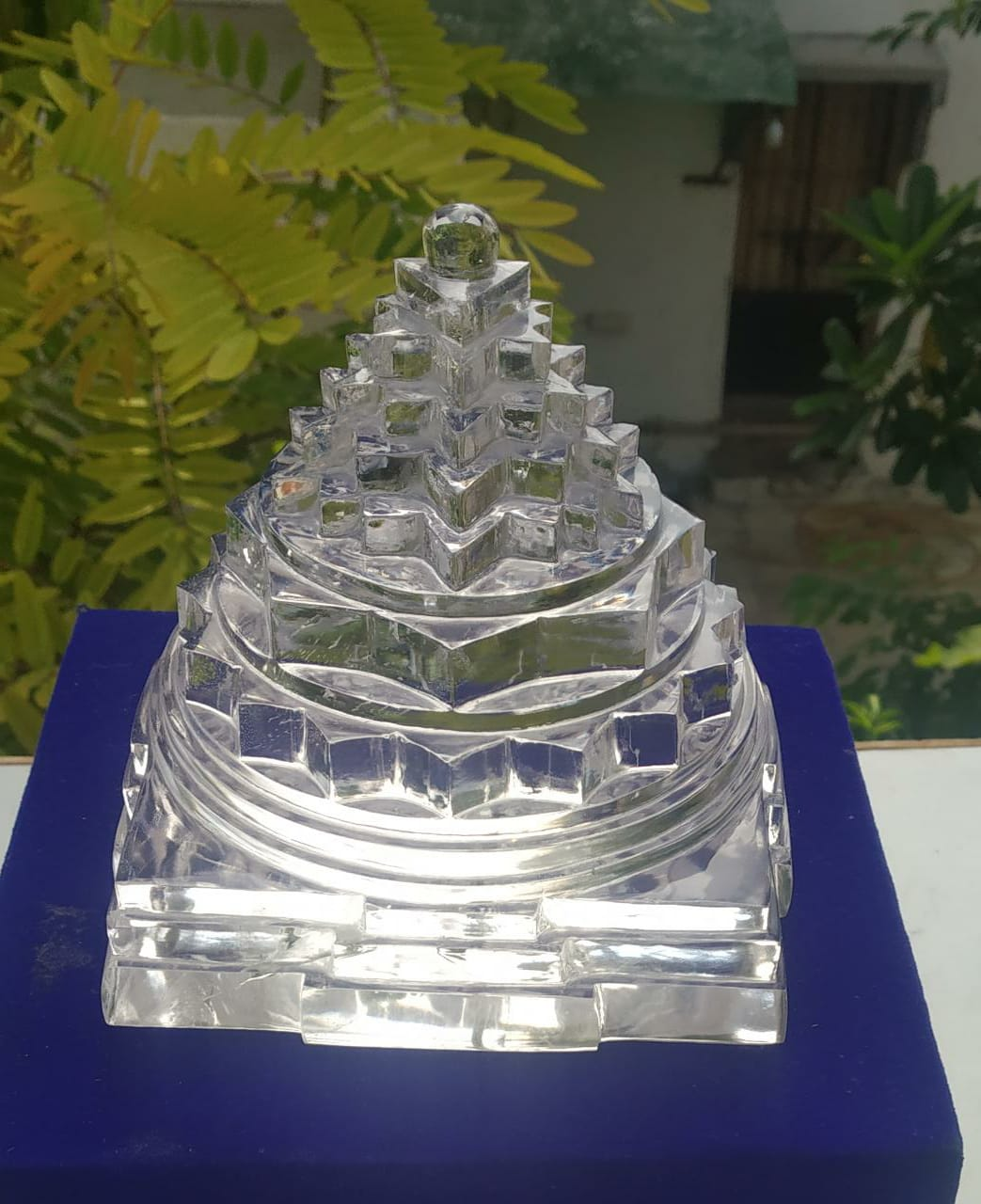 Natural Crystal Shree Yantra - 1704 Gram .
