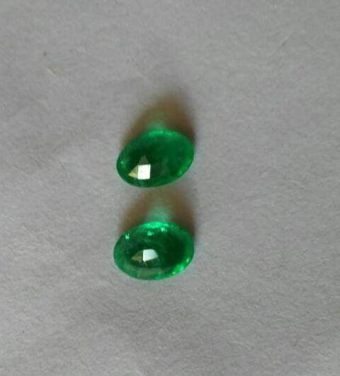 Natural Emerald pair-2.20 ct